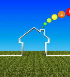 Eco House Low Energy Background Royalty Free Stock Image