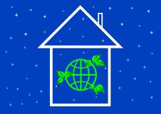 Eco house metaphor. Royalty Free Stock Photo