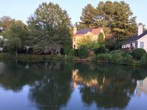 Eco House. Near the lake beauty Stock Image