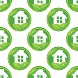 Eco house pattern Royalty Free Stock Photo