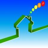 Eco house performance illustration Royalty Free Stock Photo