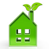 Eco House Shows Environmental Home Royalty Free Stock Photography