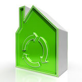 Eco House Shows Environmentally Friendly Home Royalty Free Stock Images