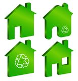 Eco house symbol Stock Photo