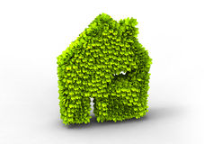 Eco house symbol Stock Photos