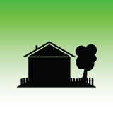 Eco house vector Royalty Free Stock Images