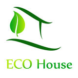 Eco House Vector. Green, illustration Stock Photography