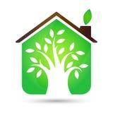 Eco House vector Stock Photo