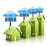 Eco houses Royalty Free Stock Photography