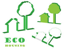 Eco housing Royalty Free Stock Photos