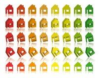 Eco huisvest 3D Vector Stock Afbeelding