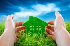 Eco hus Fotografering för Bildbyråer