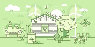 Eco hus royaltyfri bild