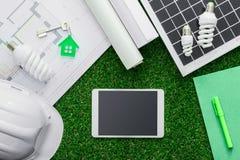 Eco husprojekt fotografering för bildbyråer