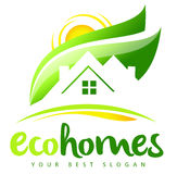 Eco husReal Estate logo Royaltyfria Foton