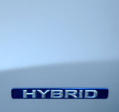 Eco Hybrid Car Royalty Free Stock Photography