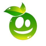 Eco icon. Bio icon with two leaves Stock Photography
