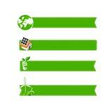 Eco icon ad tag ribbon banner, vector illustration eps10 Royalty Free Stock Image