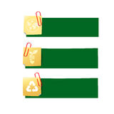 Eco icon ad tag ribbon banner, vector illustration eps10 002 Royalty Free Stock Image