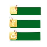 Eco icon ad tag ribbon banner, vector illustration eps10 002 Royalty Free Stock Image