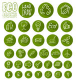 Eco icon button  set Stock Photos