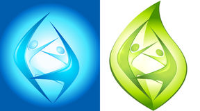 Eco-icon with  dancers Royalty Free Stock Photo