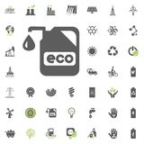 Eco icon. Eco and Alternative Energy vector icon set. Energy source electricity power resource set vector. Eco icon. Eco and Alternative Energy vector icon set Royalty Free Stock Photo
