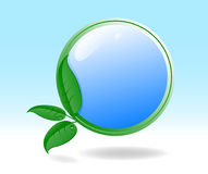 Eco icon with green leaves Royalty Free Stock Images