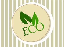 Eco icon green leaves for organic food Stock Photo