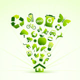 Eco icon house Royalty Free Stock Photos
