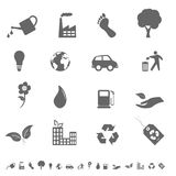 Eco icon set. Eco and environment icons and symbols Royalty Free Stock Photography