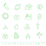 Eco Icon Set. Eco and environment green icon set Royalty Free Stock Images