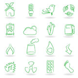 Eco Icon Set. Eco related symbols and icons Royalty Free Stock Photography
