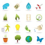 Eco Icon Set. Eco related symbols and icons Royalty Free Stock Images