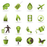Eco Icon Set. Eco related symbols and icons Stock Images