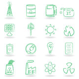 Eco Icon Set Stock Photos