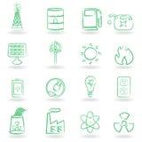 Eco Icon Set. Eco and environment icon set Stock Photos