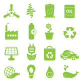 Eco icon set. Eco, recycling and clean energy icons Stock Images