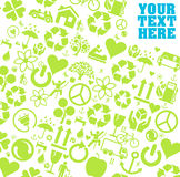 Eco icon set background Stock Image