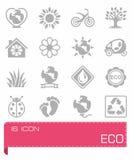 Eco icon set. On background Royalty Free Stock Image