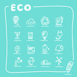 ECO icon set Royalty Free Stock Photography