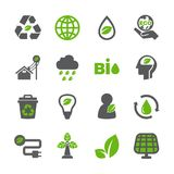 Eco icon set. /16 vector for design Stock Images