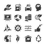 Eco icon set. Flat Design Vector Illustration: Eco icon set Royalty Free Stock Photos