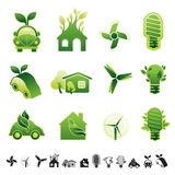 Eco icon set. Stock Image