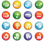 Eco icon set. Eco  icons for user interface design Stock Image
