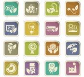 Eco icon set. Eco  icons for user interface design Royalty Free Stock Photos