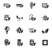 Eco icon set. Eco web icons for user interface design Stock Photos