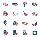 Eco icon set. Eco web icons for user interface design Royalty Free Stock Photography