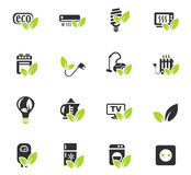 Eco icon set. Eco web icons for user interface design Stock Images