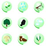 Eco icon set on white background Stock Images